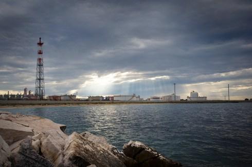Veduta della zona industriale.