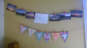 Bunting and photos