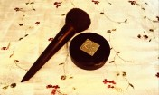 My powder foundation and brush