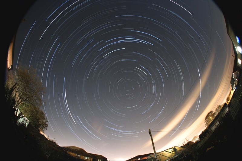 Fisheye star trails finish size