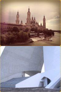 Pilar de Zaragoza y Auditorio de Tenerife