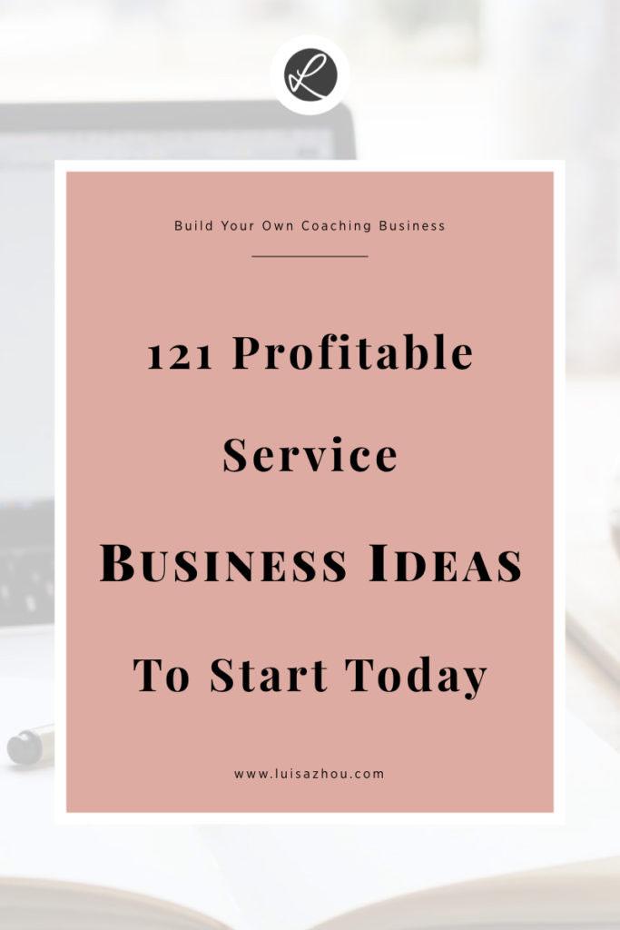 profitable service business ideas pin