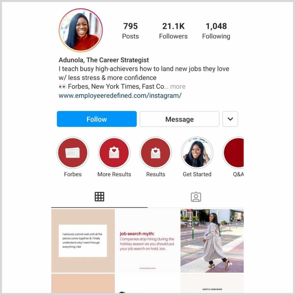 Instagram client feed