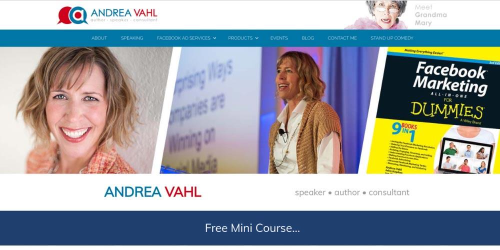 Andrea Vahl website
