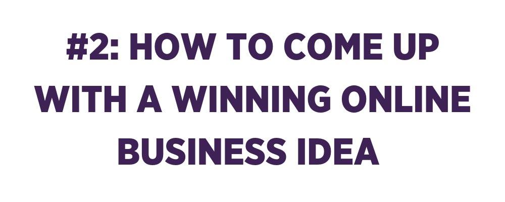 winning online business idea banner