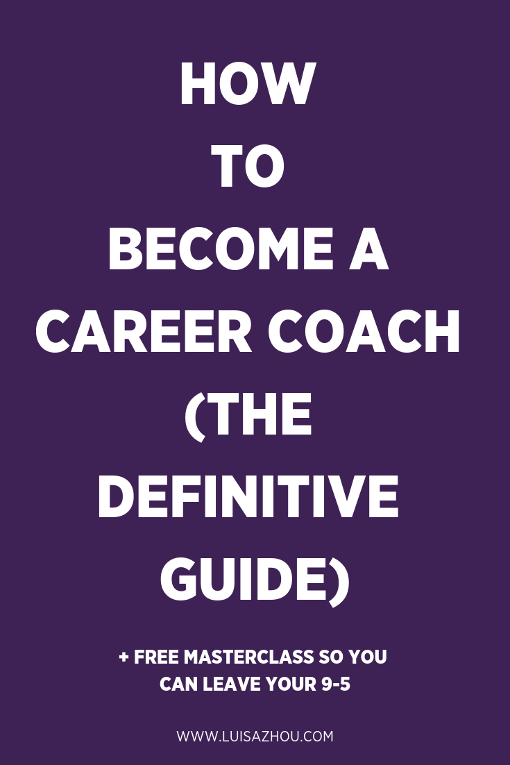 Become a Career coach Pinterest pin