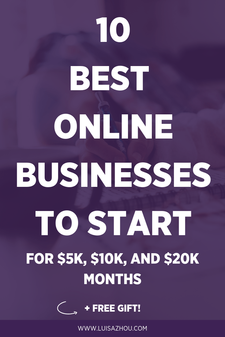 Best online businesses to start Pin