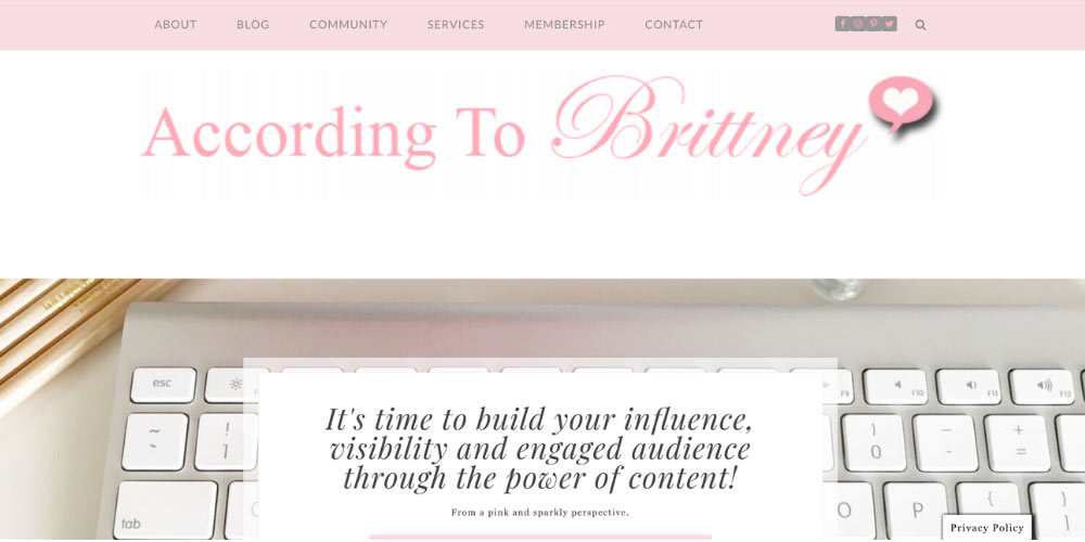 Brittney Moffatt website