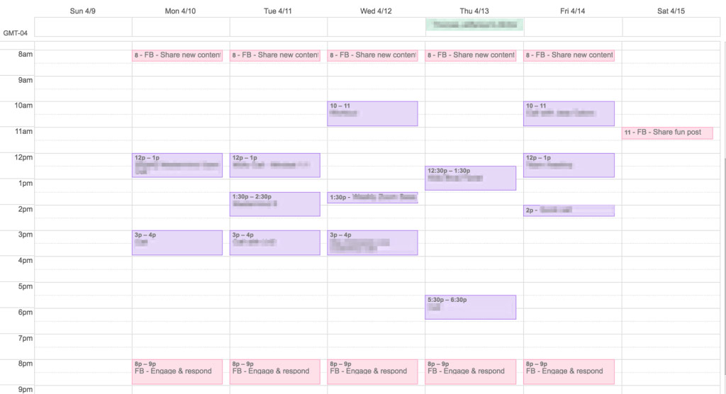 Business calendar first year