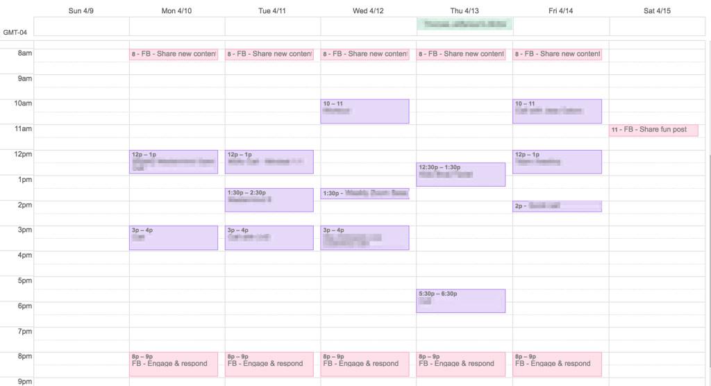 Business calendar first year