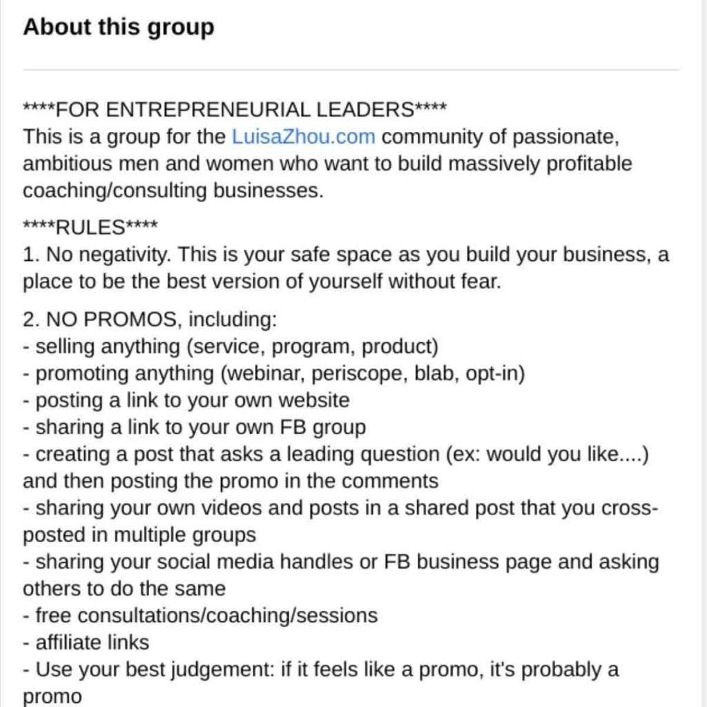 Facebook description