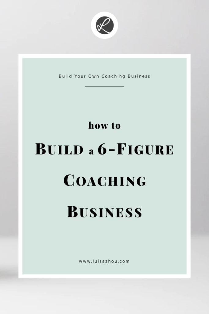 pin building a coaching business