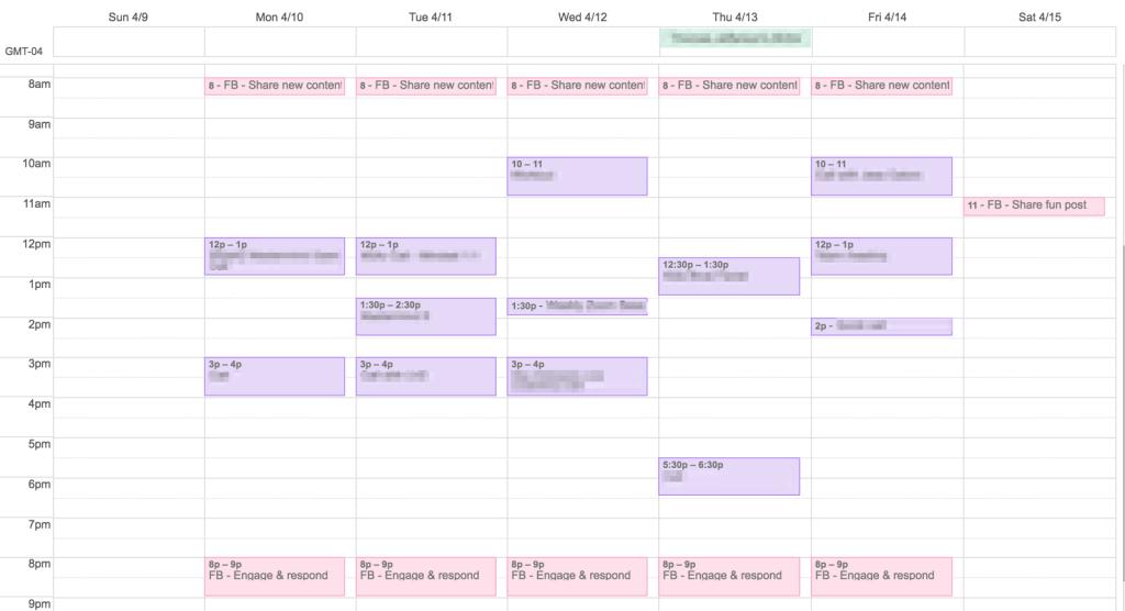 9-5 calendar