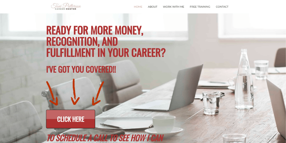 Career coaching website
