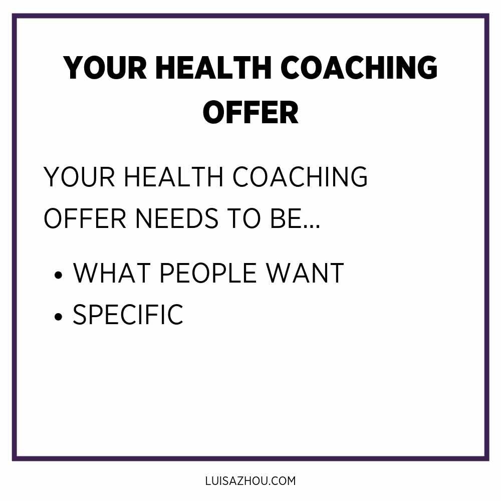 your health coaching offer