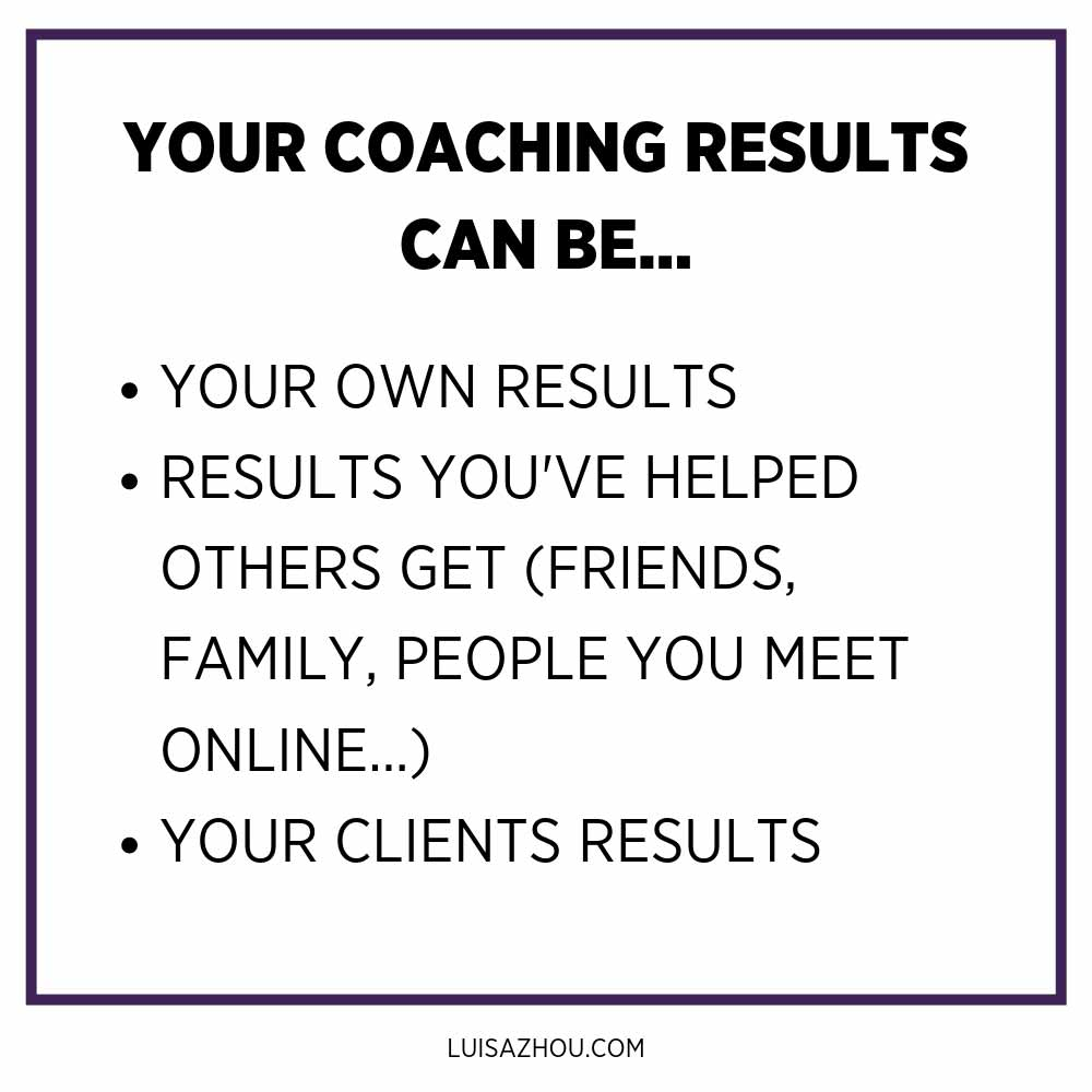 coaching result examples