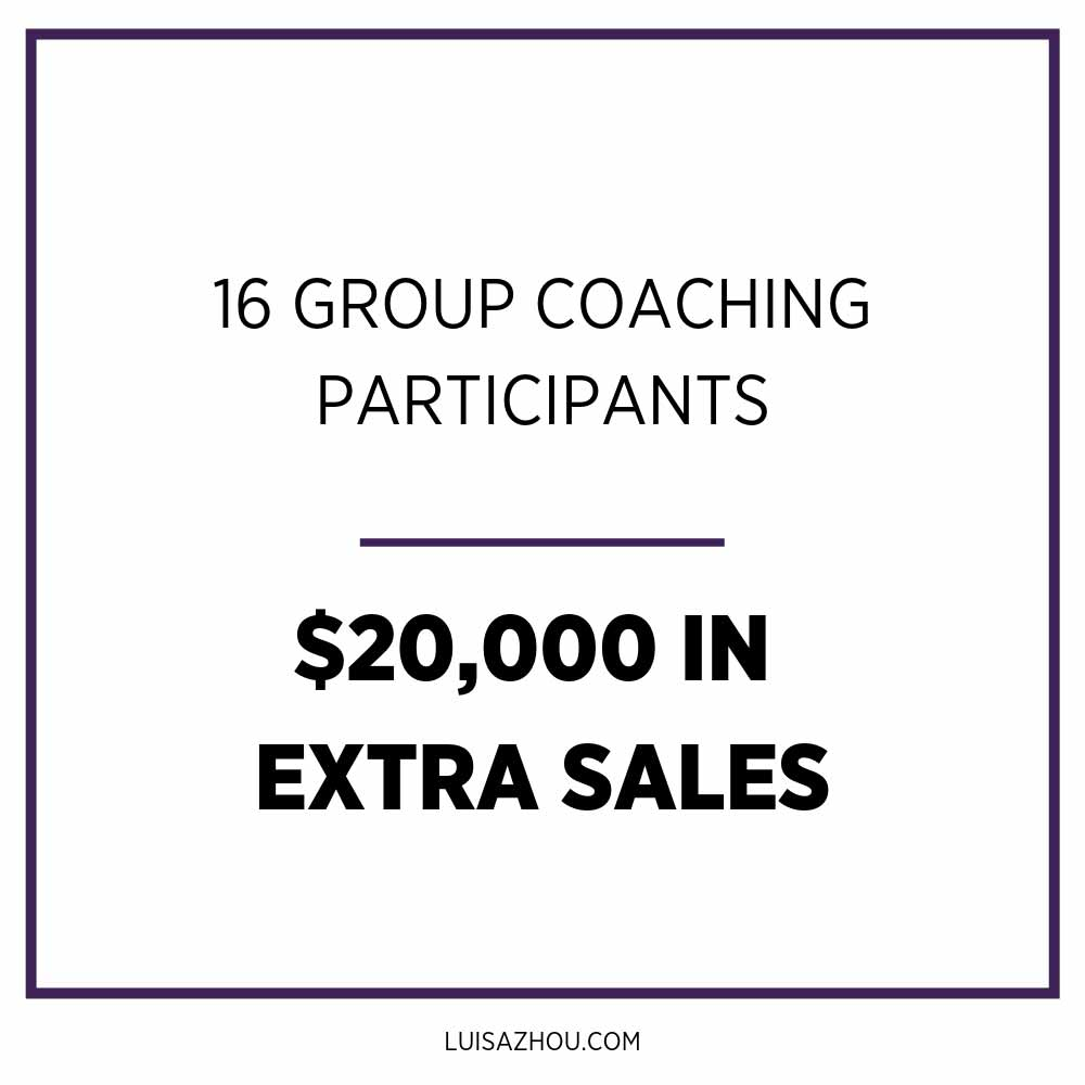 group coaching income