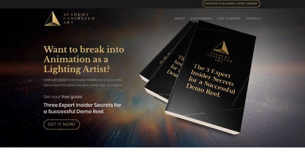 Academy of Animated Art website