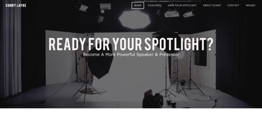 speaking coach website example