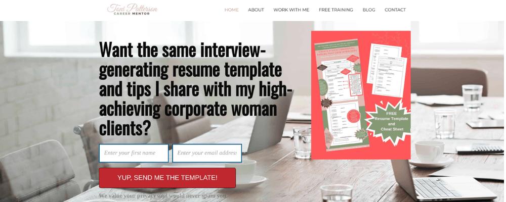 Toni Patterson website