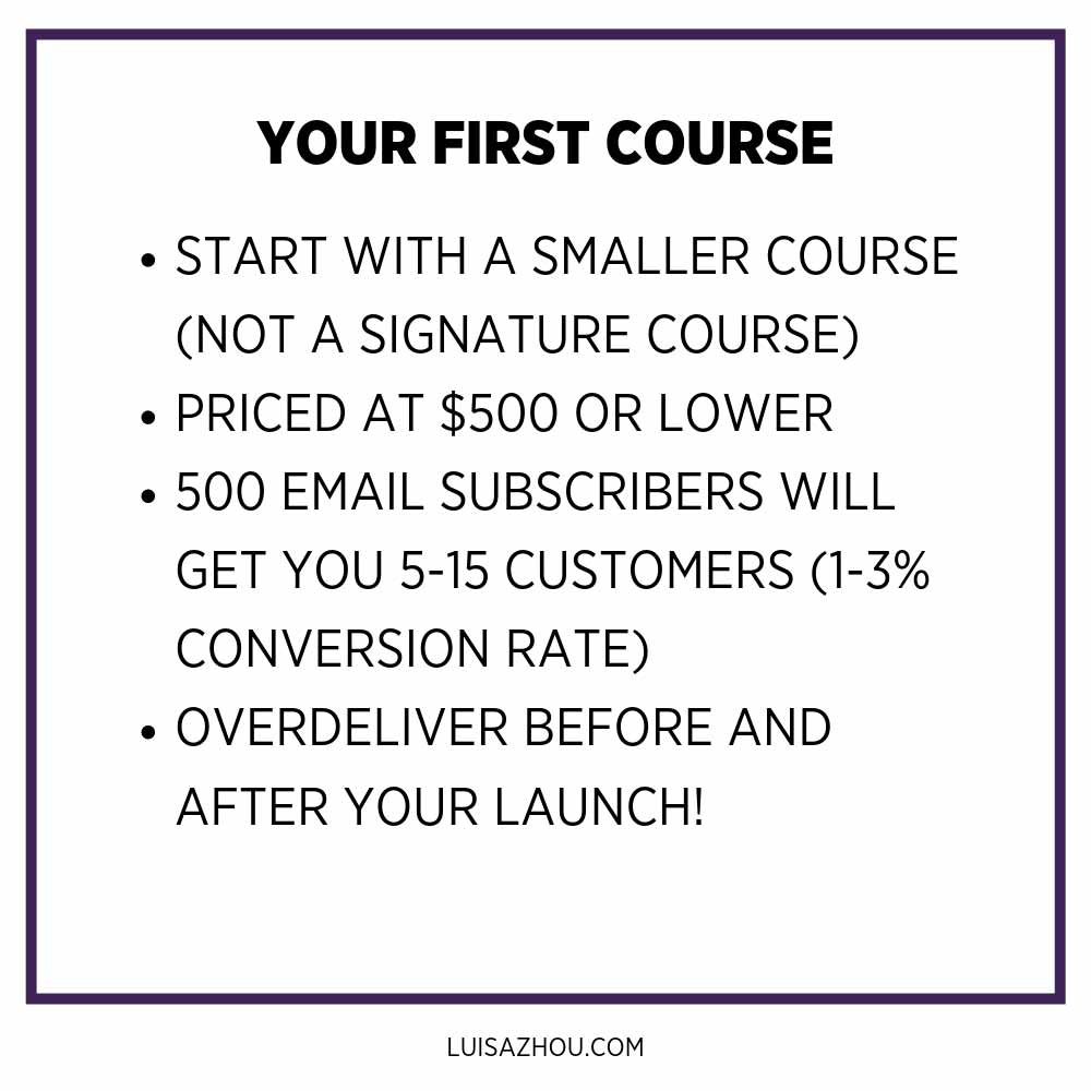 your first course