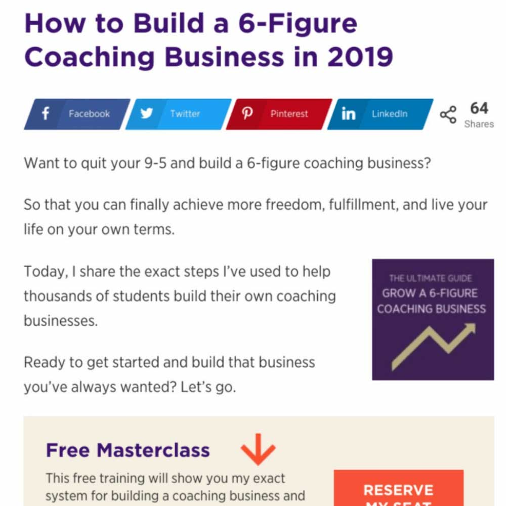 coaching business blog post