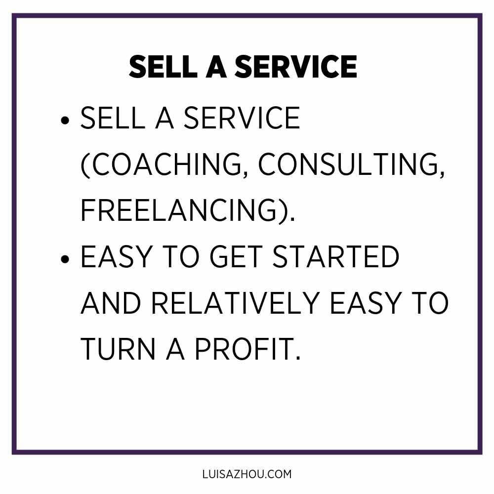 Sell a service table