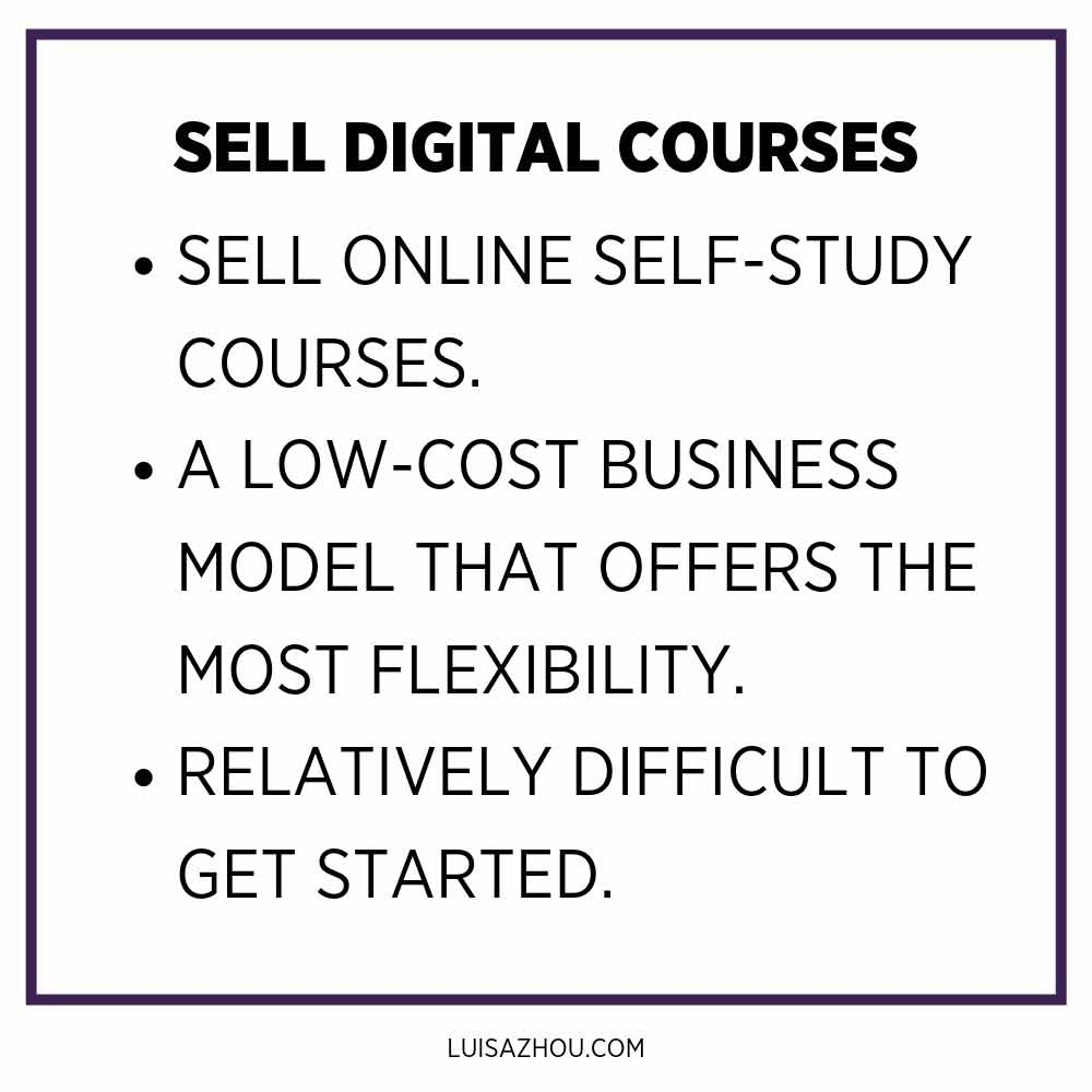 sell digital courses table