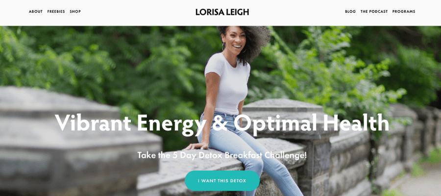 Lorisa Leight website