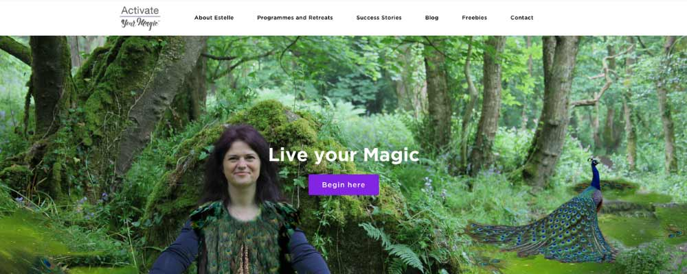live your magic website example