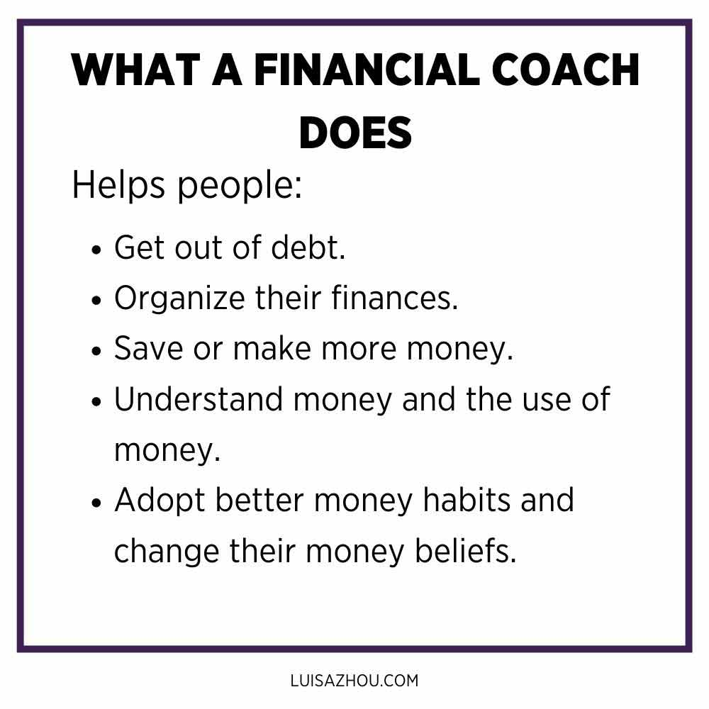 What a financial coach does