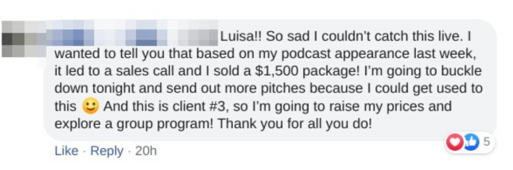 Client result