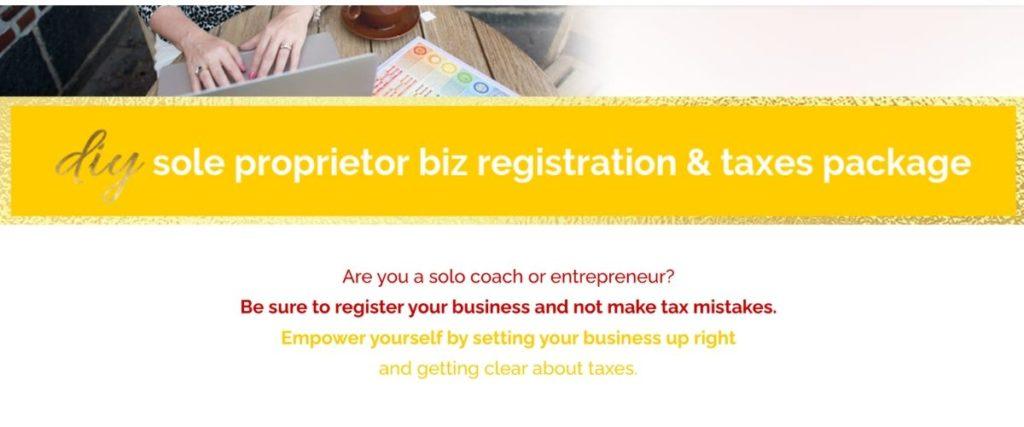 DIY sole proprietorship biz registration