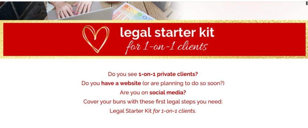 Legal starter kit
