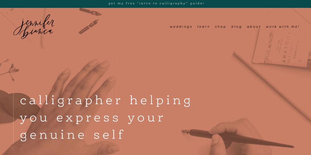 Jennifer Bianca website