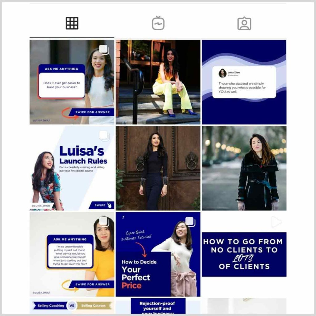 Luisa Zhou Instagram feed