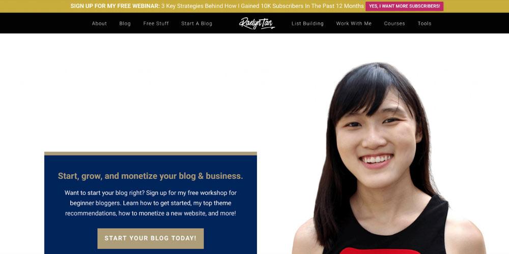 Raelyn Tan website