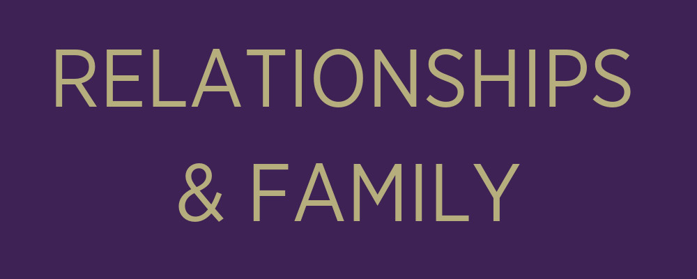 Relationships and Family banner
