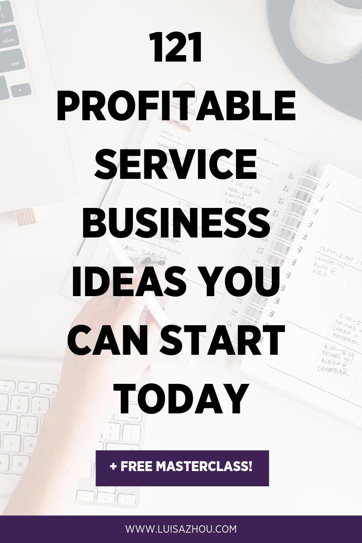 Service business ideas Pinterest pin