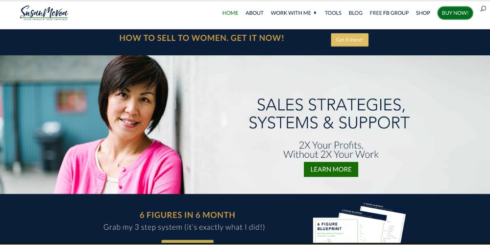 Susan coaching client example