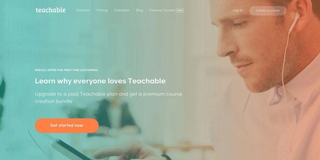 Teachable website