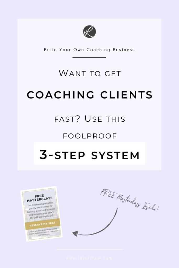 get coaching clients pin