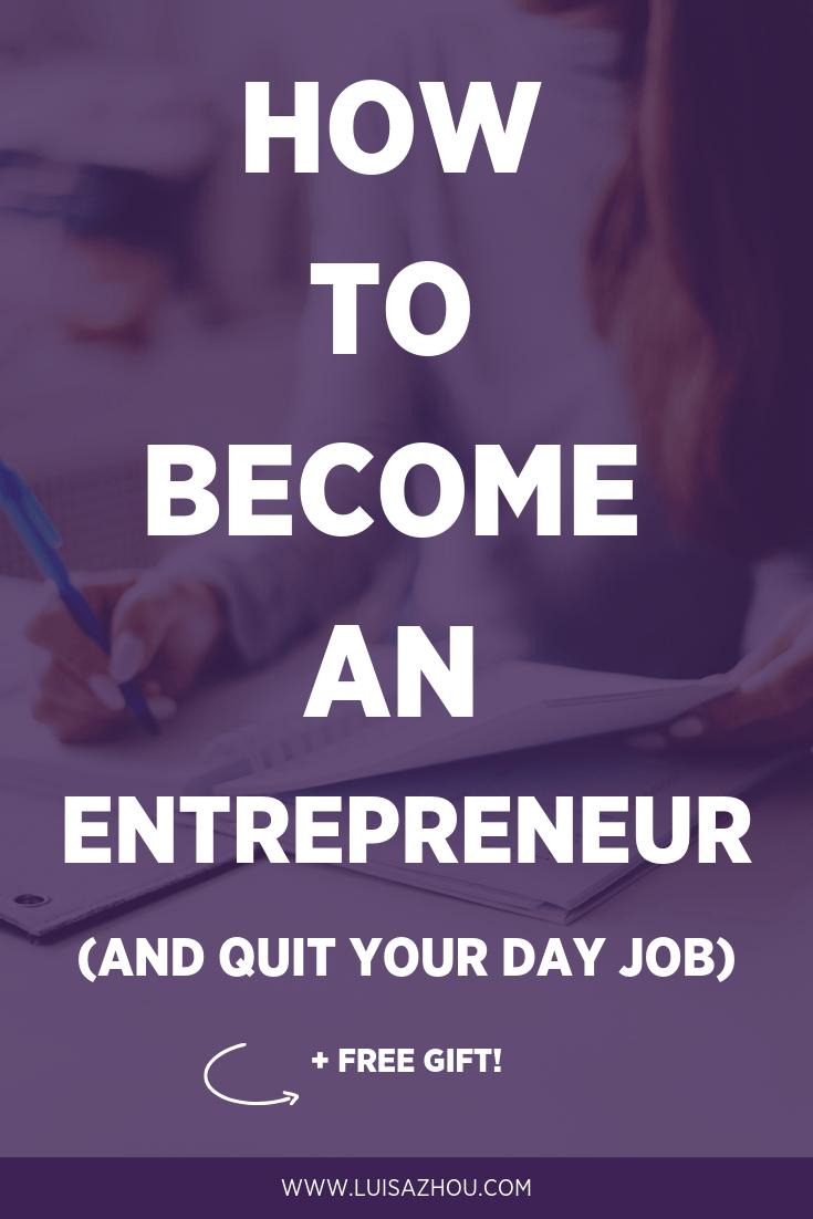 become an entrepreneur pin