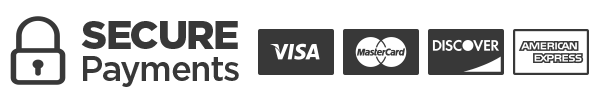 Secure Payments with major credit cards