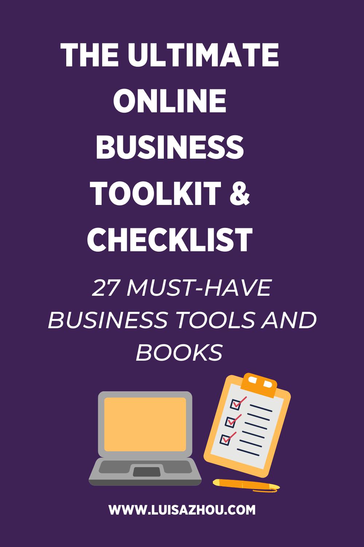online business checklist pin