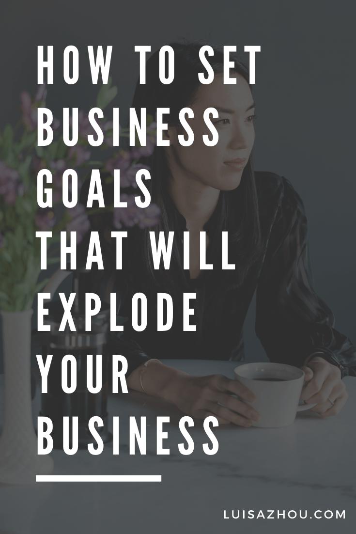 set business goals pin