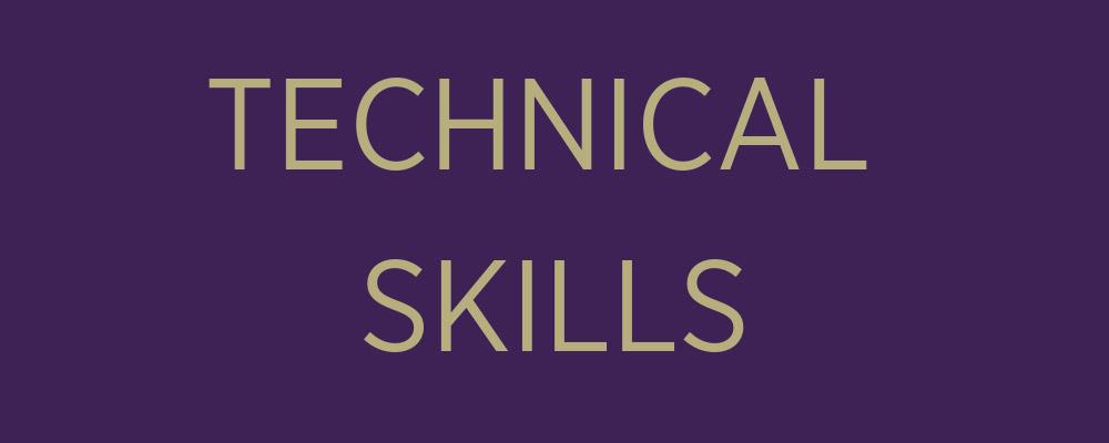 technical skills banner