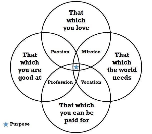 paixão, missão, vocação e profissão