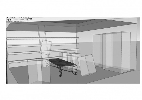 Used Sketchup to make sure prespective and staging were correct.