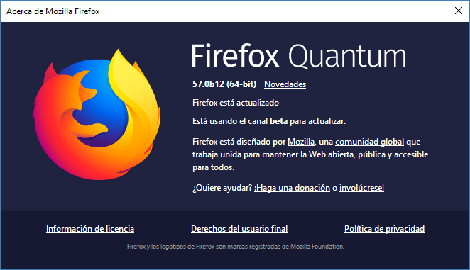 Mozilla Firefox Quantum Beta